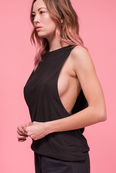 Silk Sleeveles Top