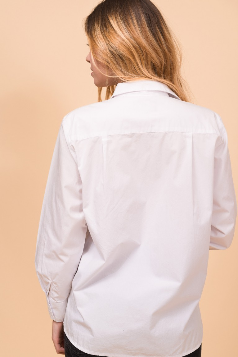 "Cotton white shirt ""Love me tender"""