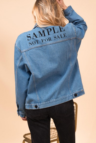 "Denim jacket ""Sample Not For Sale"""