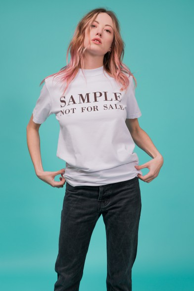 "Cotton t-shirt ""sample"""