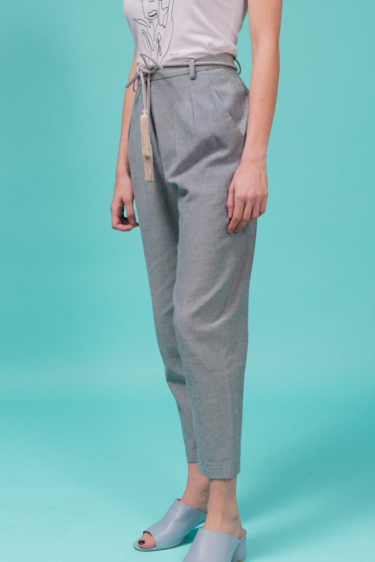 Organic cotton denim trousers