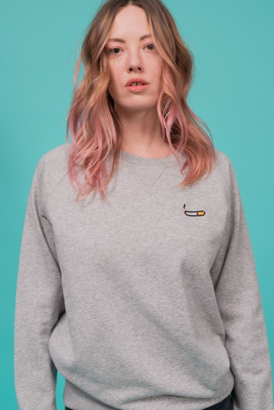 "Cotton sweatshirt ""cigarette"""