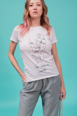 Printed organic cotton t-shirt