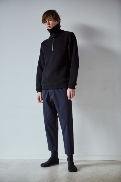 Merino wool turtleneck black