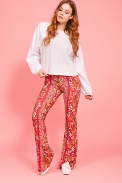 Alba burner flare trousers