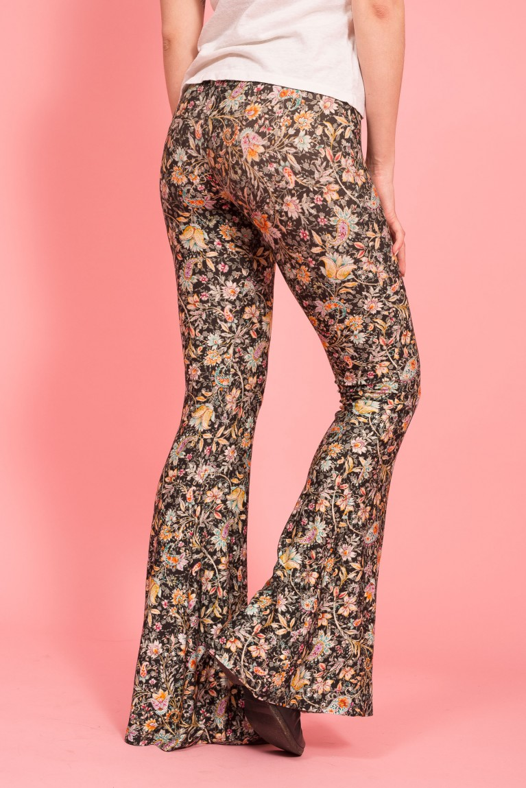 Alba paper wall flare trousers