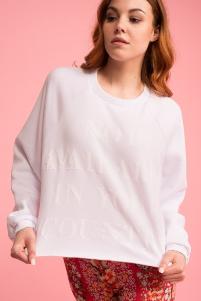 Cotton cropped sweatshirt