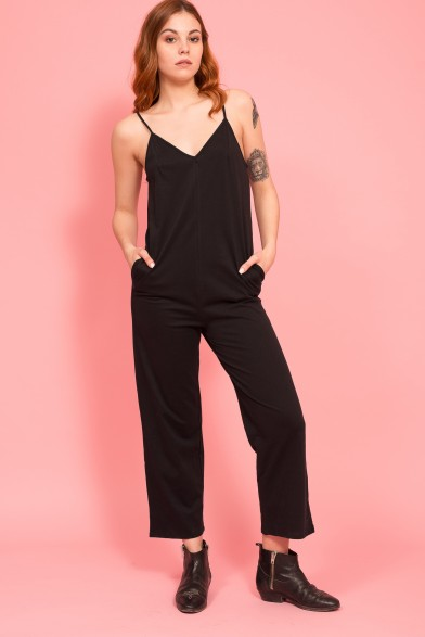 Sleeveless organic cotton jumpsuit
