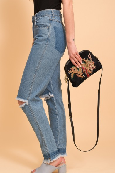 Slim demi-denim jeans