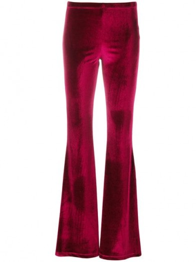 Velour flared trousers