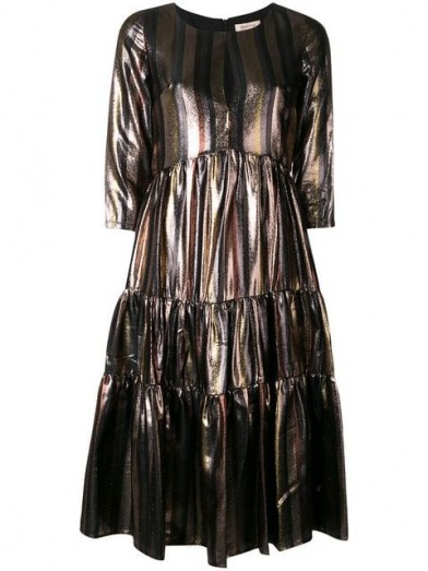 Gold Stripe Dress