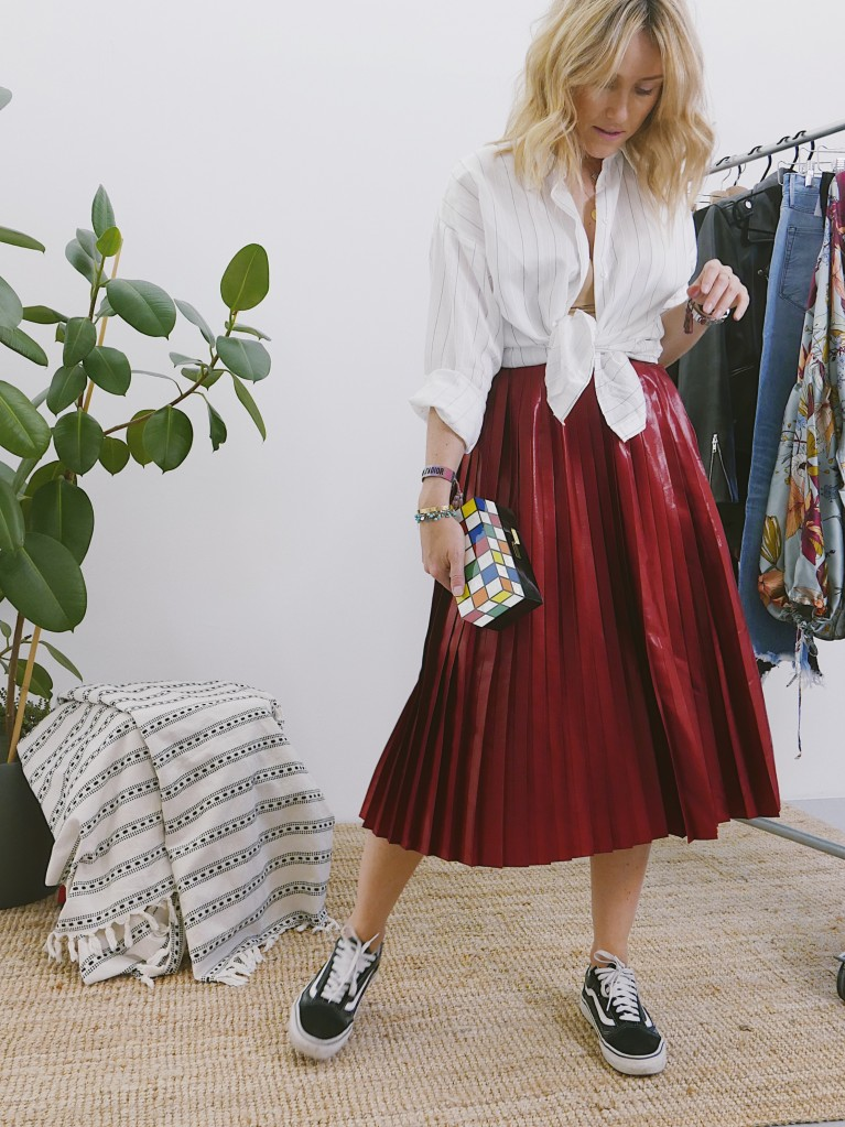 LILLY Long Skirt Red