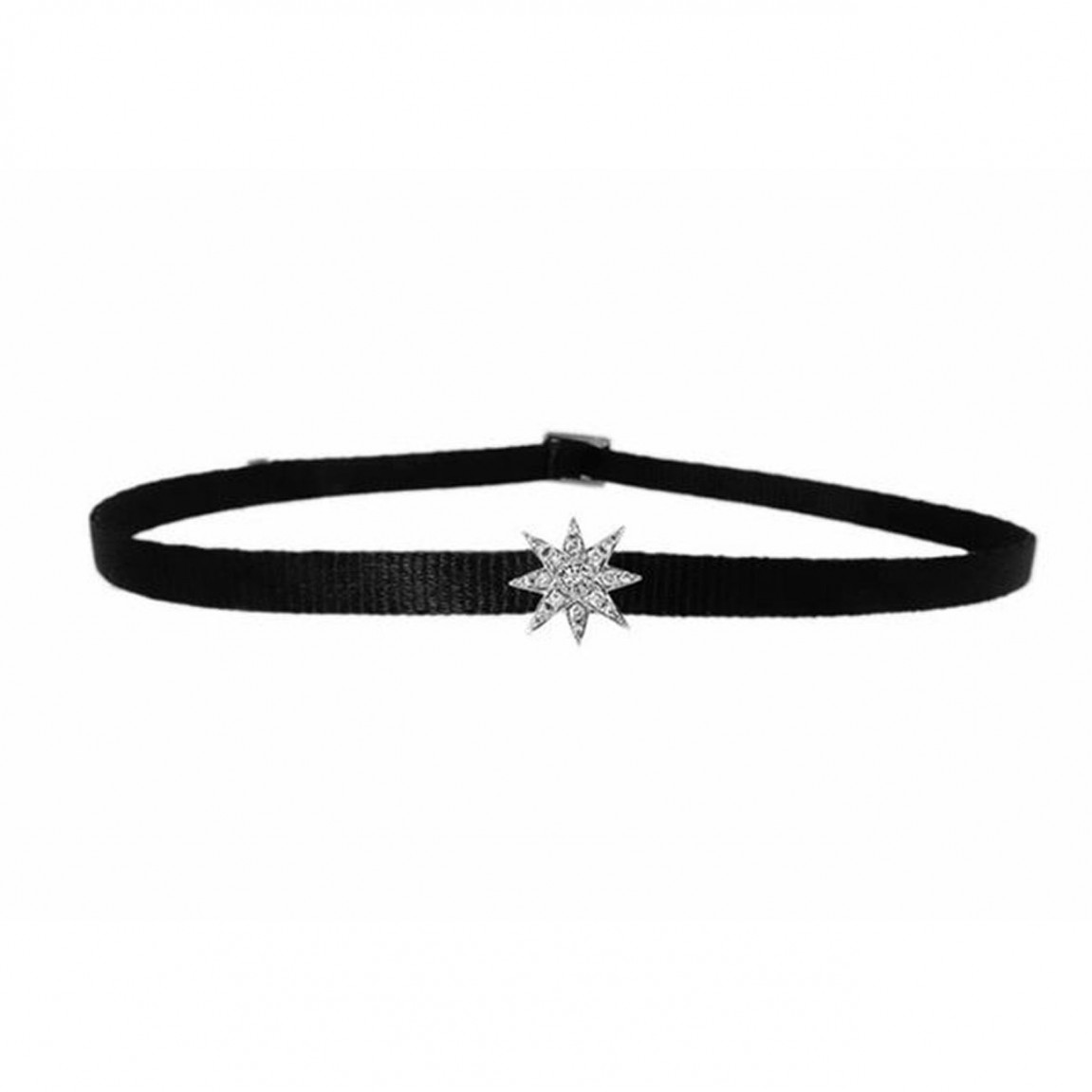 Starburst white gold choker