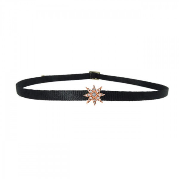 Starburst rose gold choker