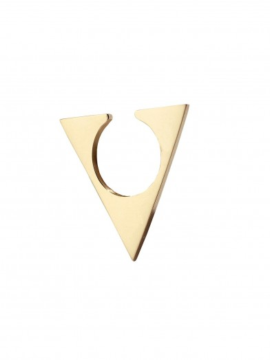 Triangle gold ear cuff