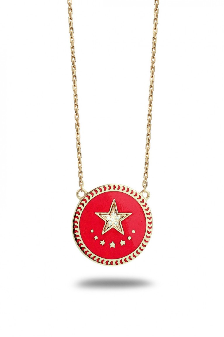 Strenght medallion necklace