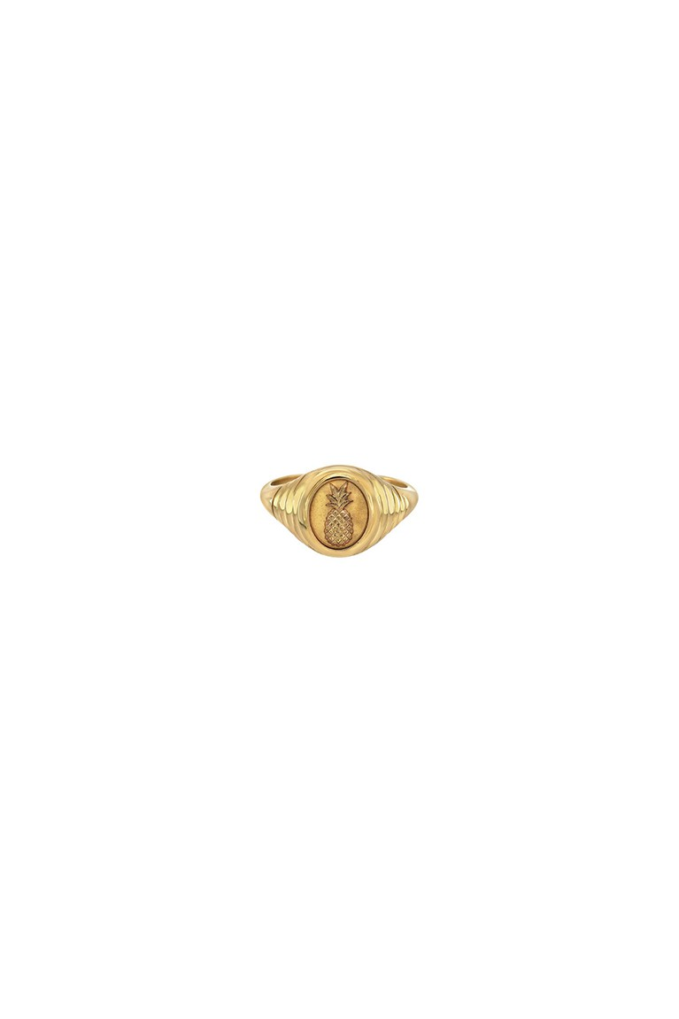 Pineapple Baby Signet Ring