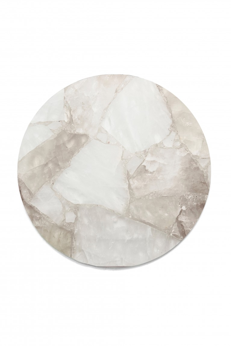 Clear quartz circle tray
