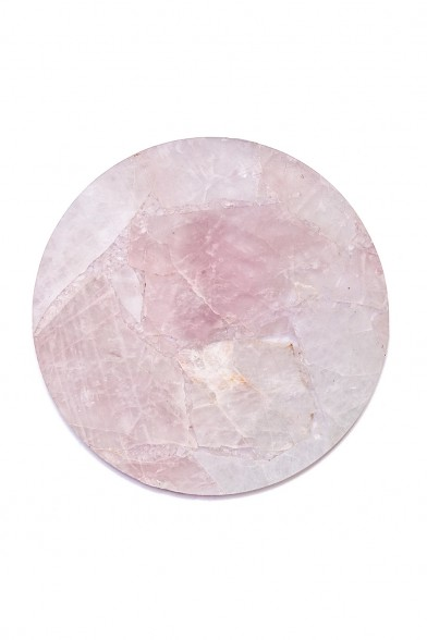 Rose quartz circle tray