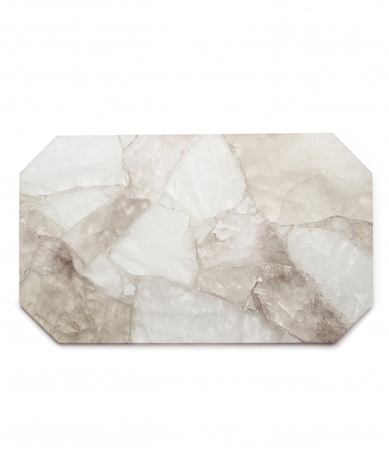 Clear quartz rectangle tray